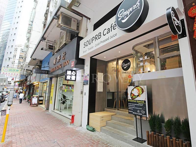 Restaurants and shops